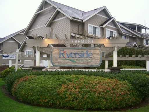 """Main Photo: 12 2927 FREMONT ST in Port Coquiltam: Riverwood Townhouse for sale in """"RIVERSIDE TERRACE"""" (Port Coquitlam)  : MLS®# V570959"""
