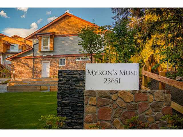 "Main Photo: 53 23651 132 Avenue in Maple Ridge: Silver Valley Townhouse for sale in ""MYRON'S MUSE AT SILVER VALLEY"" : MLS®# V1132381"