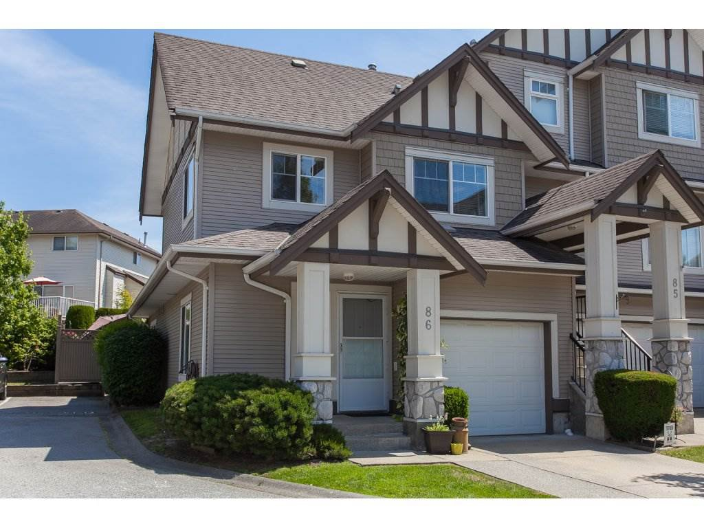 "Main Photo: 86 18221 68 Avenue in Surrey: Cloverdale BC Townhouse for sale in ""Magnolia"" (Cloverdale)  : MLS®# R2189705"