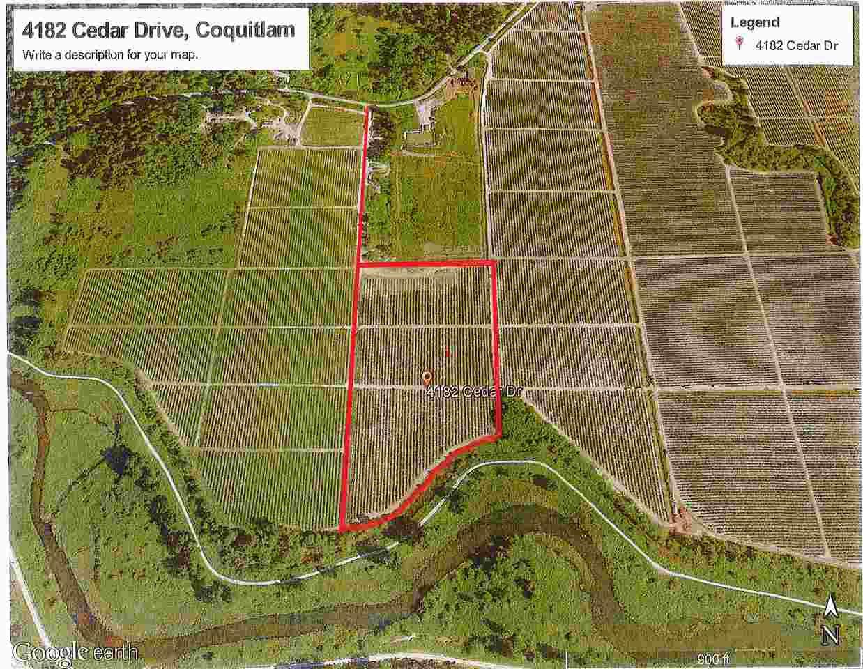 Main Photo: 4182 CEDAR Drive in Coquitlam: Burke Mountain Land for sale : MLS®# R2128701
