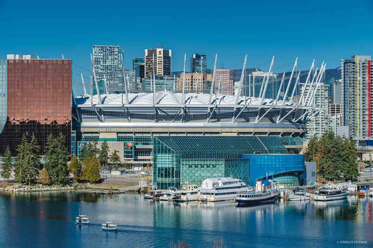 "Main Photo: 801 77 WALTER HARDWICK Avenue in Vancouver: False Creek Condo for sale in ""KAYAK"" (Vancouver West)  : MLS®# R2343982"