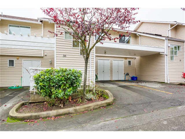 "Main Photo: 36 1235 JOHNSON Street in Coquitlam: Canyon Springs Townhouse for sale in ""Creekside Village"" : MLS®# R2372765"