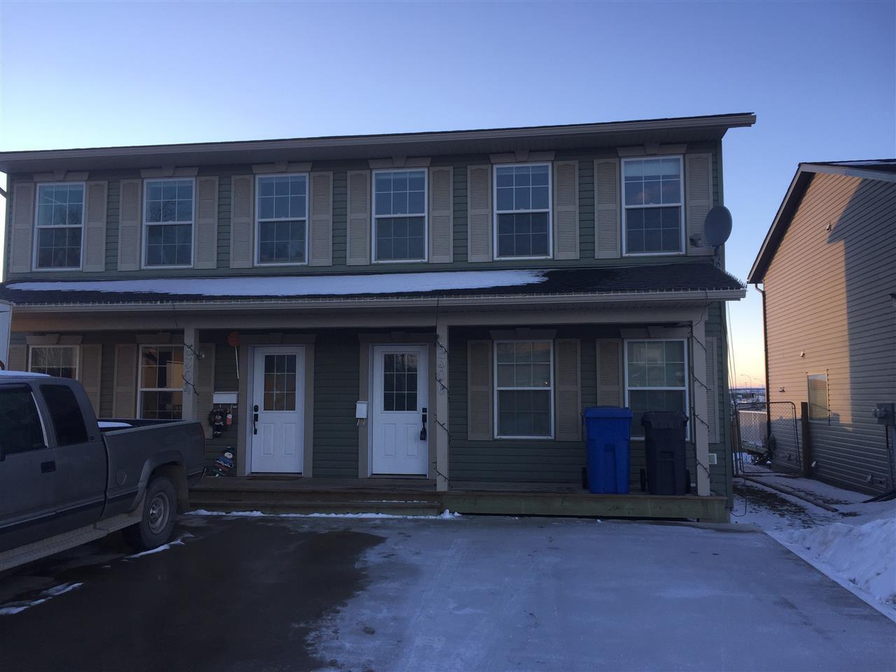 Main Photo: 8306 87 Street in Fort St. John: Fort St. John - City SE House 1/2 Duplex for sale (Fort St. John (Zone 60))  : MLS®# R2442549