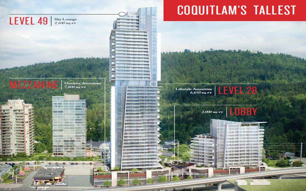 Main Photo: #1103 at 567 CLARKE + COMO by MARCON in : west Condo  (Coquitlam)