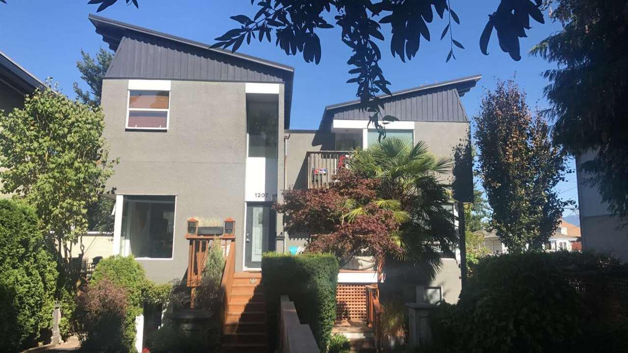 Main Photo: 1207 E 13TH Avenue in Vancouver: Mount Pleasant VE House 1/2 Duplex for sale (Vancouver East)  : MLS®# R2226233