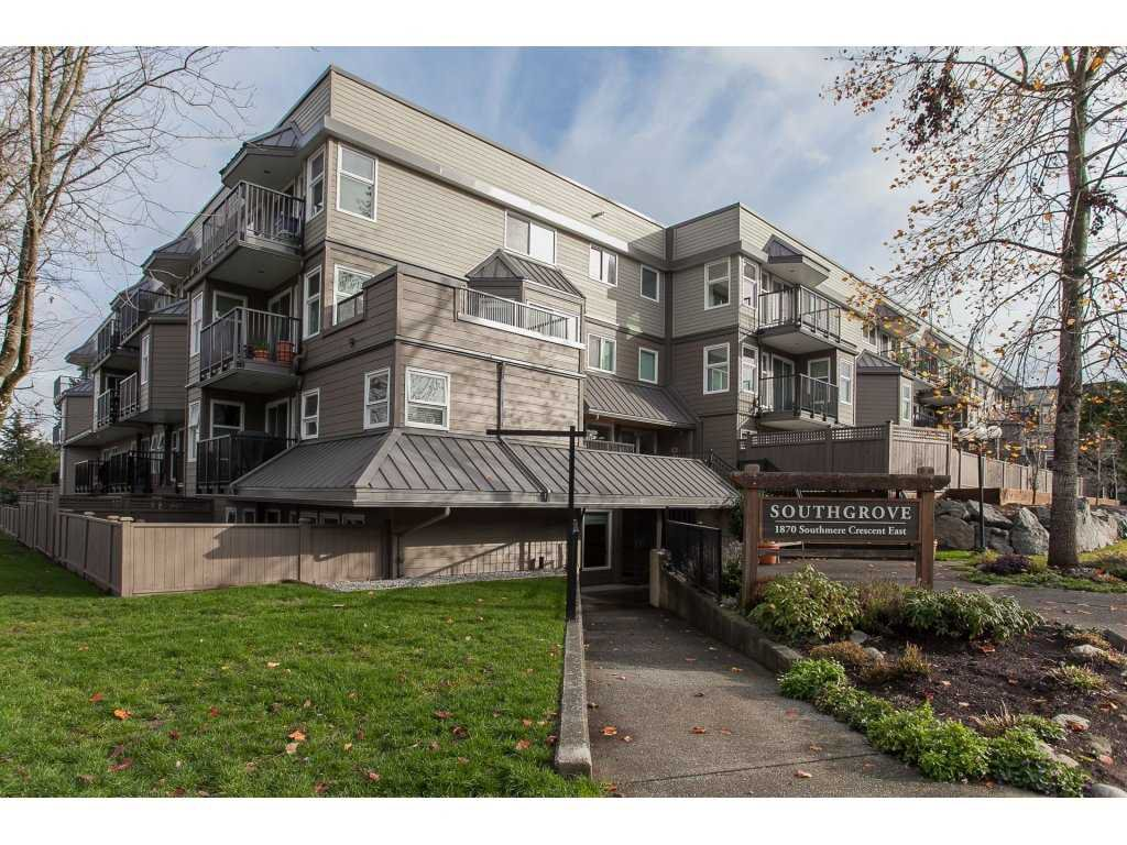 "Main Photo: 207 1870 E SOUTHMERE Crescent in Surrey: Sunnyside Park Surrey Condo for sale in ""Southgrove"" (South Surrey White Rock)  : MLS®# R2123587"