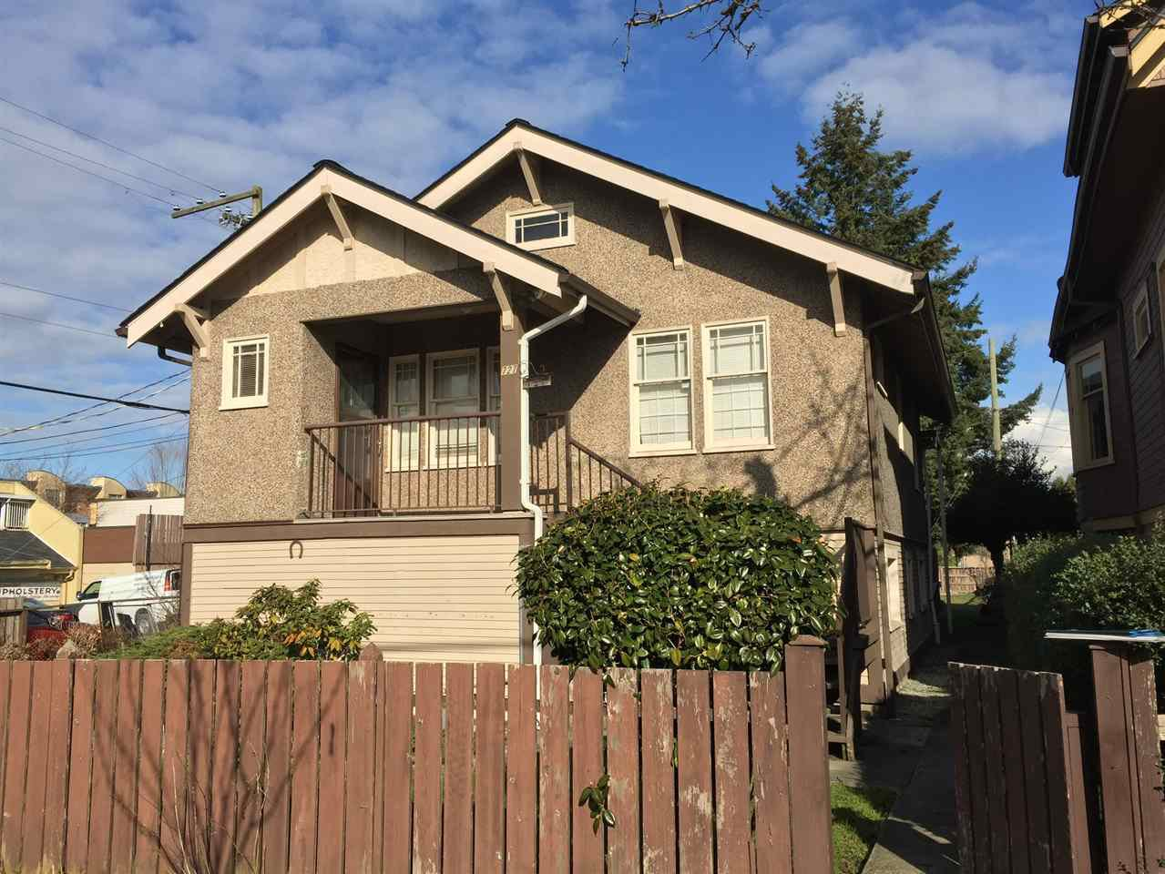 Main Photo: 727 E 26 Avenue in Vancouver: Fraser VE House for sale (Vancouver East)  : MLS®# R2143519