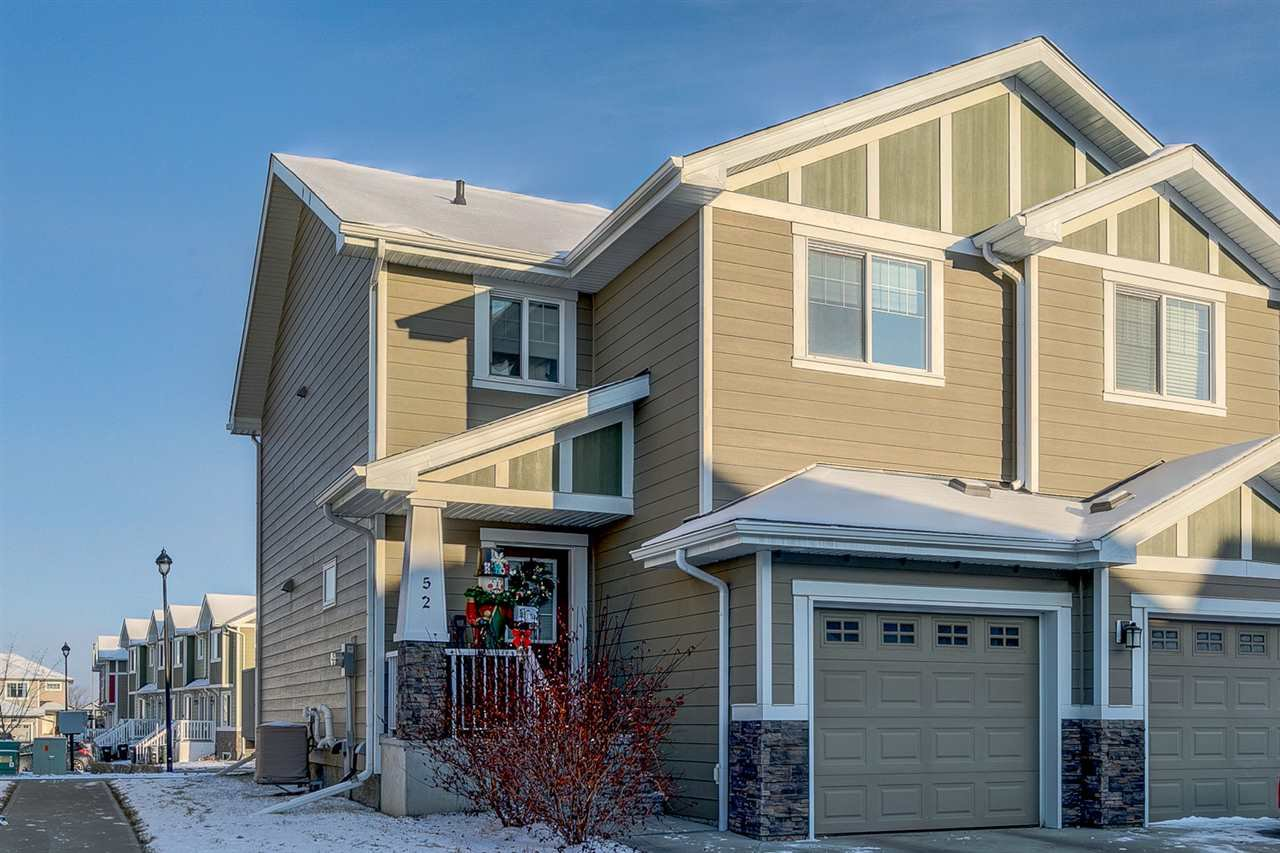 Main Photo: 52 219 CHARLOTTE Way: Sherwood Park House Half Duplex for sale : MLS®# E4177848