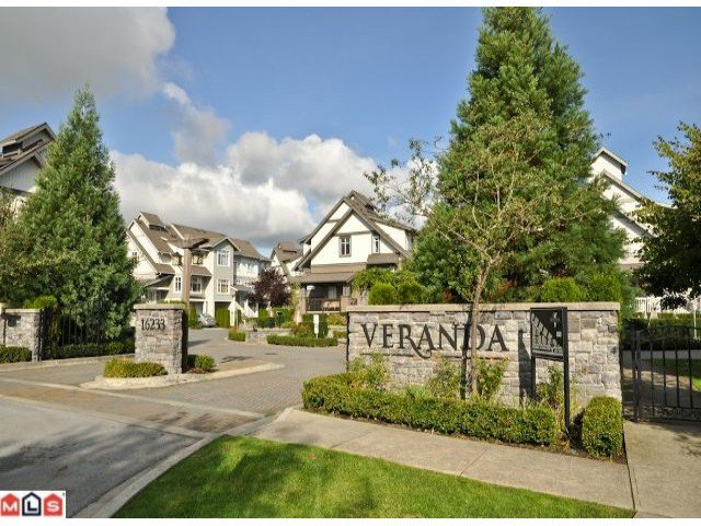 "Main Photo: 40 16233 83RD Avenue in Surrey: Fleetwood Tynehead Townhouse for sale in ""VERANDA"" : MLS®# F1125502"