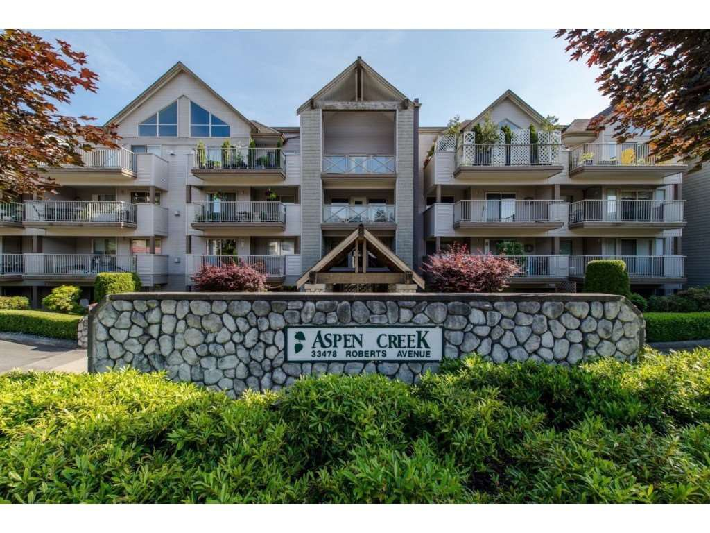 "Main Photo: 317 33478 ROBERTS Avenue in Abbotsford: Central Abbotsford Condo for sale in ""Aspen Creek"" : MLS®# R2338004"