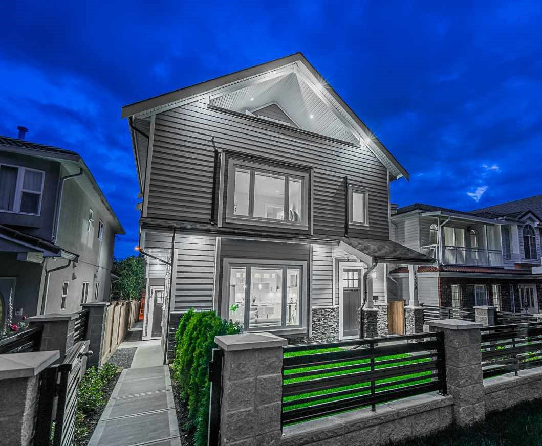 Main Photo: 4541 BEATRICE Street in Vancouver: Victoria VE 1/2 Duplex for sale (Vancouver East)  : MLS®# R2488478