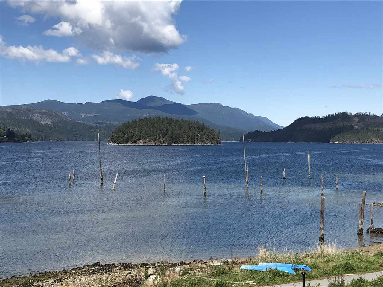 Waterfront faces west and this view is towards the north up Sechelt Inlet