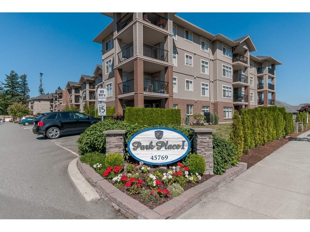 """Main Photo: 307 45769 STEVENSON Road in Sardis: Sardis East Vedder Rd Condo for sale in """"PARK PLACE 1"""" : MLS®# R2096555"""