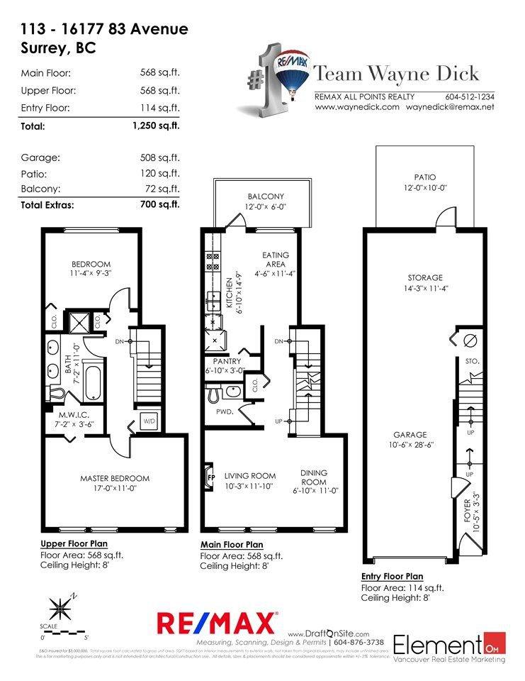 "Photo 20: Photos: 113 16177 83 Avenue in Surrey: Fleetwood Tynehead Townhouse for sale in ""VERANDA"" : MLS®# R2297514"