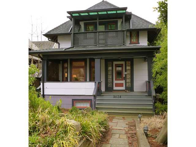 Main Photo: 2624 W 3RD Avenue in Vancouver: Kitsilano House for sale (Vancouver West)  : MLS®# V878859