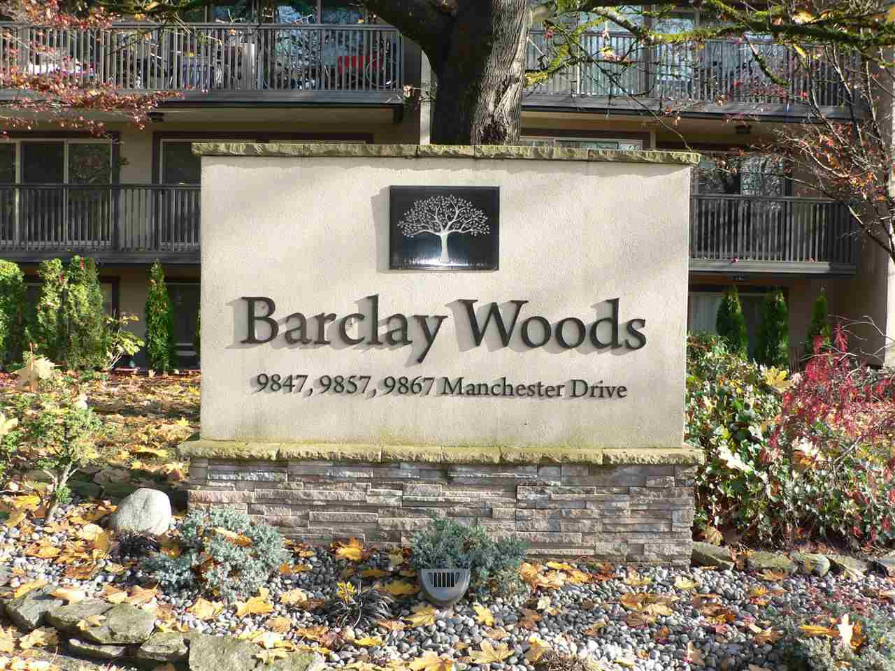 """Main Photo: 308 9867 MANCHESTER Drive in Burnaby: Cariboo Condo for sale in """"BARCLAY WOODS"""" (Burnaby North)  : MLS®# R2419502"""