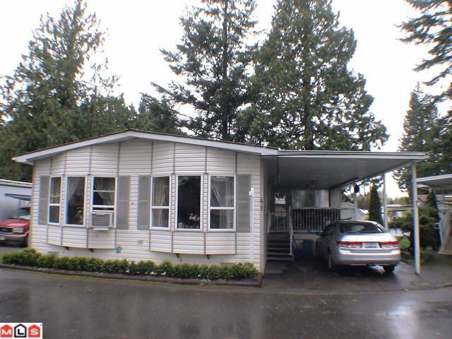 "Main Photo: 41 24330 FRASER Highway in Langley: Otter District Manufactured Home for sale in ""LANGLEY GROVE ESTATES"" : MLS®# F1107918"