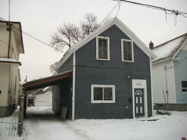 Main Photo: 381 Alfred Avenue in WINNIPEG: North End Residential for sale (North West Winnipeg)  : MLS®# 1200354
