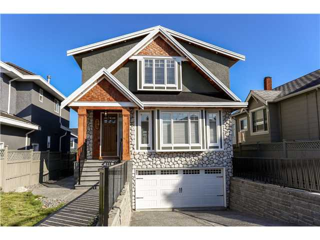 Front exterior - Granite stones, granite stairs, real wood trim, European style windows