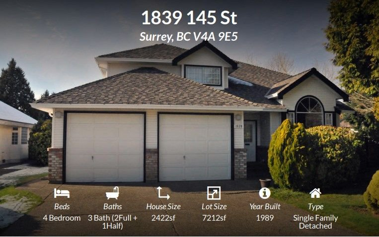 """Main Photo: 1839 145 Street in Surrey: Sunnyside Park Surrey House for sale in """"THE GLENS"""" (South Surrey White Rock)  : MLS®# R2242515"""