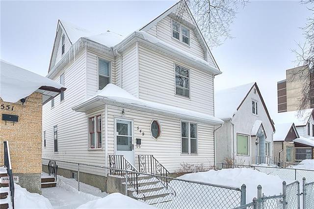 Main Photo: 549 Elgin Avenue in Winnipeg: Single Family Detached for sale (5A)  : MLS®# 1903292