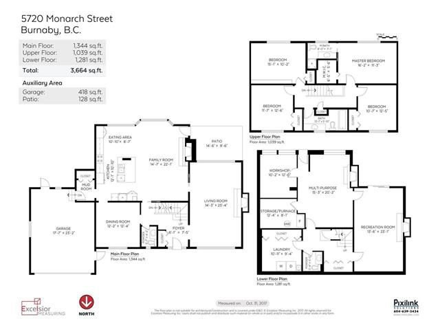Photo 19: Photos: 5720 MONARCH Street in Burnaby: Deer Lake Place House for sale (Burnaby South)  : MLS®# R2230895