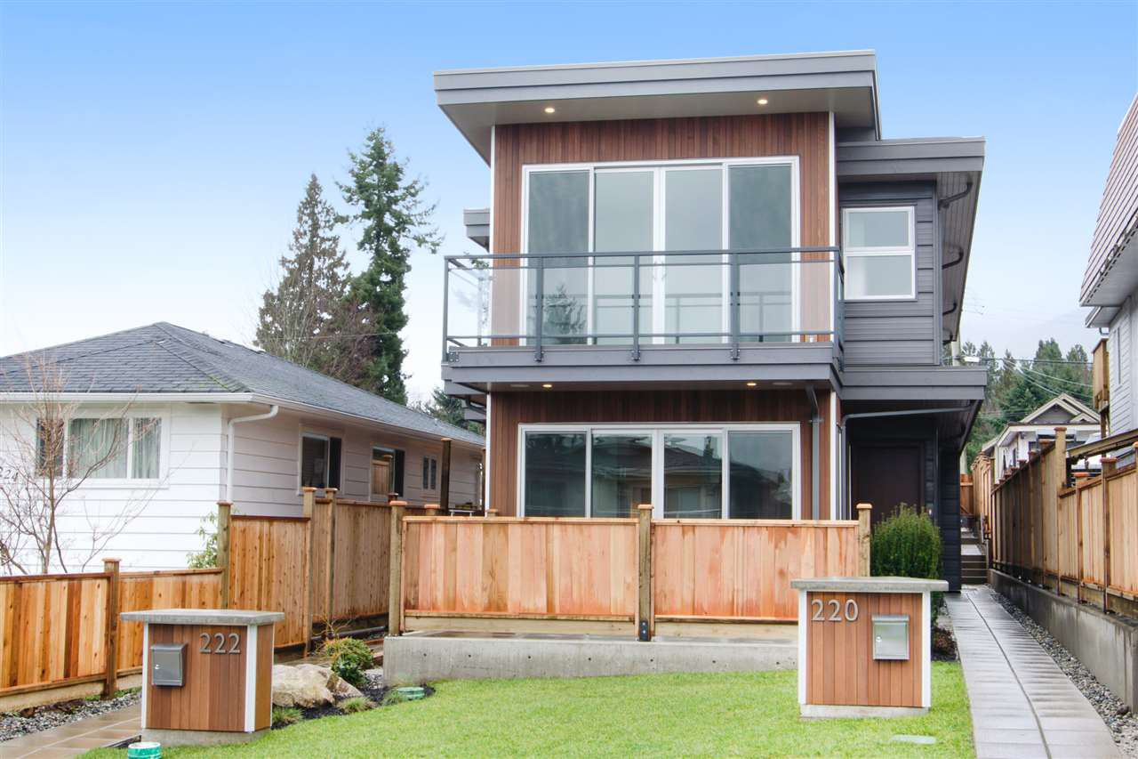 Main Photo: 1 220 W 18TH Street in North Vancouver: Central Lonsdale House 1/2 Duplex for sale : MLS®# R2000634