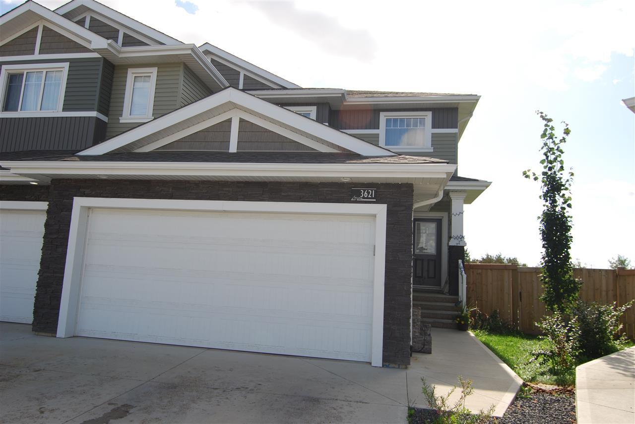 Main Photo: 3621 HUMMINGBIRD Way in Edmonton: Zone 59 House Half Duplex for sale : MLS®# E4183968