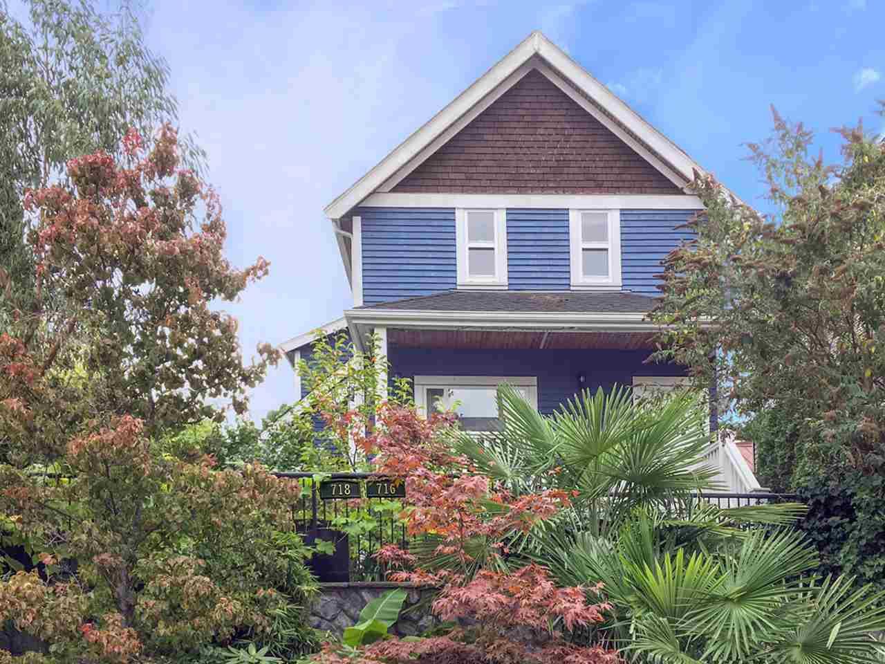 Main Photo: 716 UNION Street in Vancouver: Mount Pleasant VE House 1/2 Duplex for sale (Vancouver East)  : MLS®# R2218146