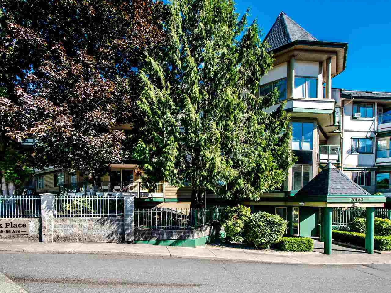 """Main Photo: 108 20140 56 Avenue in Langley: Langley City Condo for sale in """"Park Place"""" : MLS®# R2481313"""