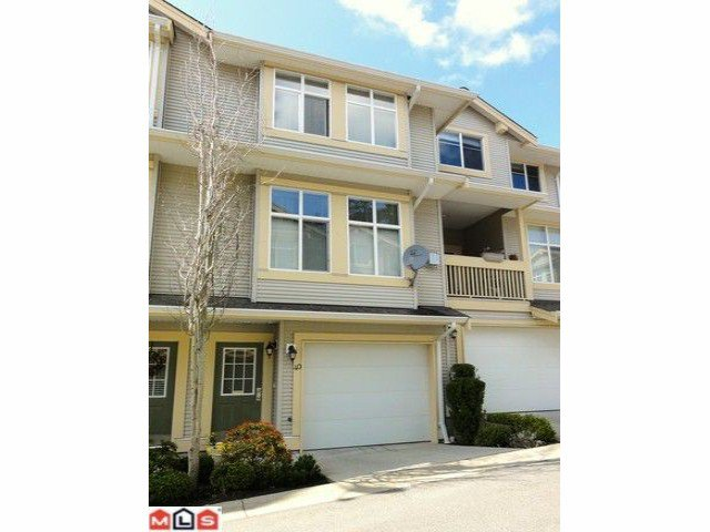 "Main Photo: 40 14959 58TH Avenue in Surrey: Sullivan Station Townhouse for sale in ""SKYLANDS"" : MLS®# F1109689"