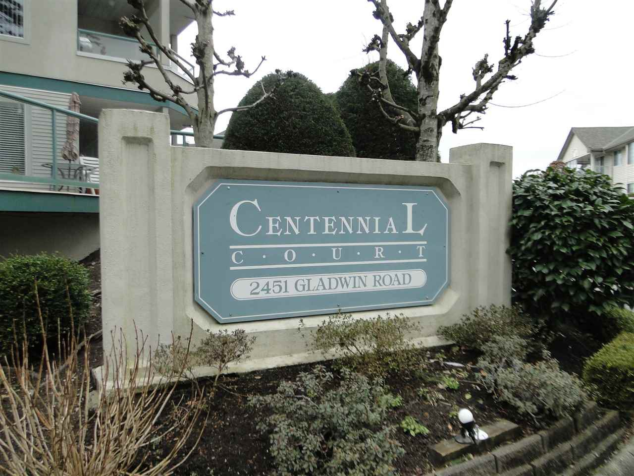 "Main Photo: 140 2451 GLADWIN Road in Abbotsford: Abbotsford West Condo for sale in ""Centennial Court"" : MLS®# R2348932"
