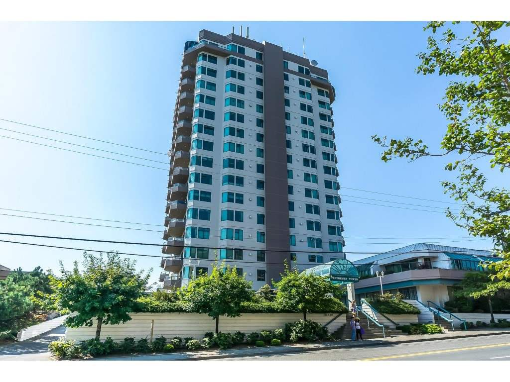 "Main Photo: 1403 32440 SIMON Avenue in Abbotsford: Abbotsford West Condo for sale in ""Trethewey Towers"" : MLS®# R2371199"