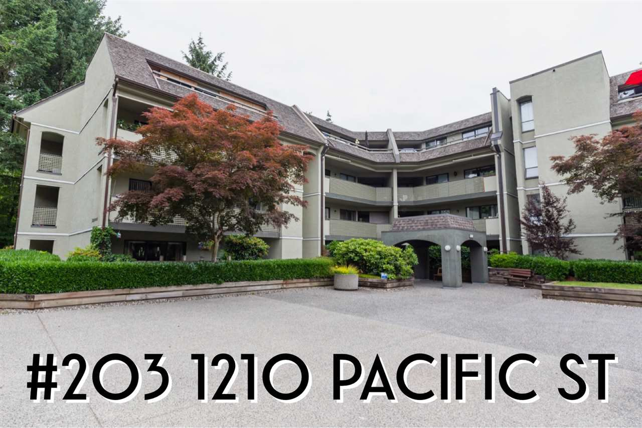 """Main Photo: 203 1210 PACIFIC Street in Coquitlam: North Coquitlam Condo for sale in """"Glenview Manor"""" : MLS®# R2381481"""