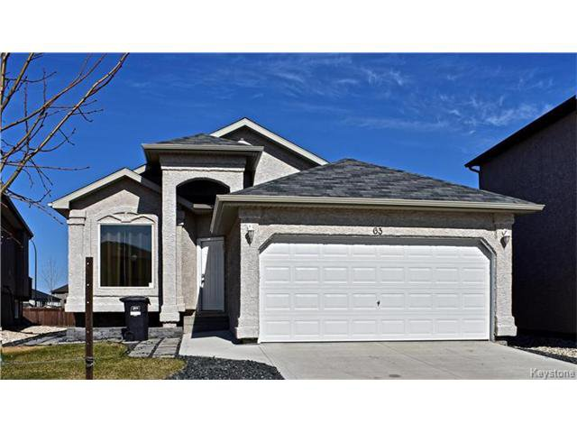 Main Photo: 63 Colbourne Drive in Winnipeg: South Pointe Residential for sale (1R)  : MLS®# 1710635