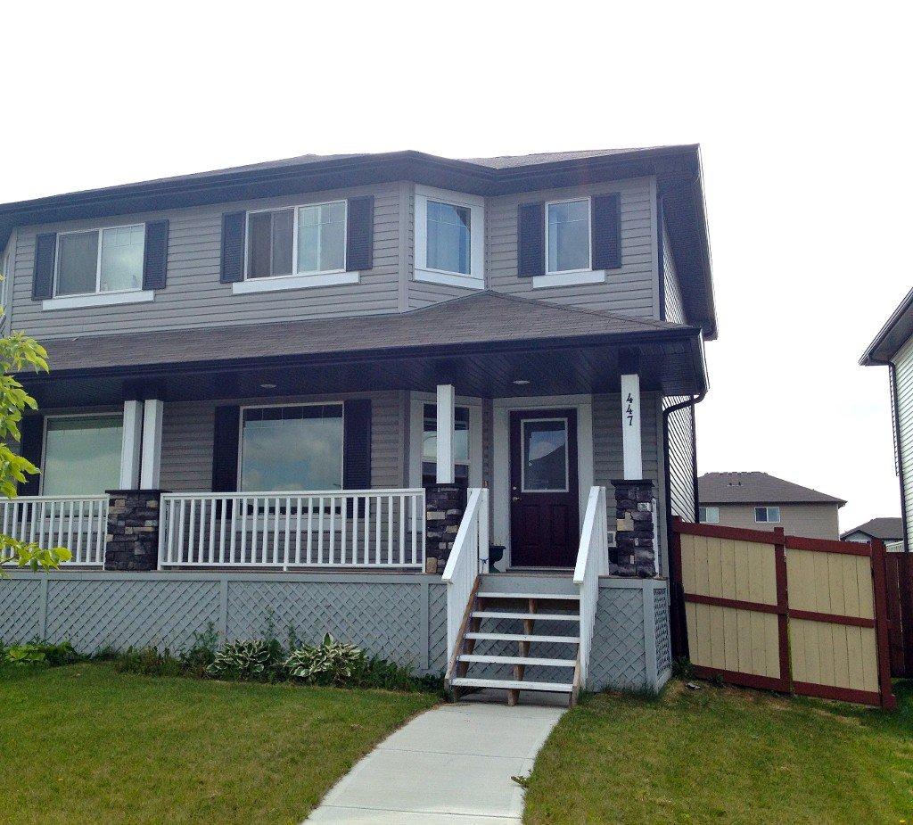 Main Photo: 447 Songhurst Place: Leduc House Half Duplex for sale : MLS®# E3344448