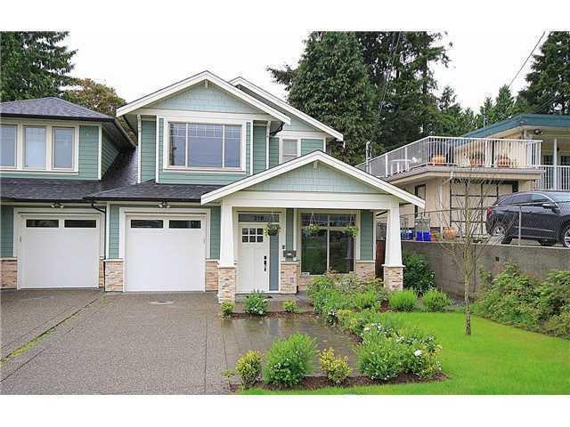 Main Photo: 318 BURNS Street in Coquitlam: Coquitlam West 1/2 Duplex for sale : MLS®# V1046054