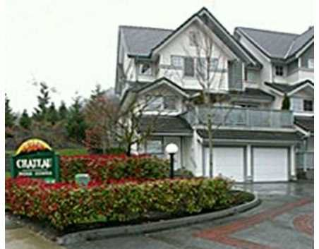 """Main Photo: 1 2382 PARKWAY BV in Coquitlam: Westwood Plateau Townhouse for sale in """"CHATEAU RIDGE"""" : MLS®# V531386"""