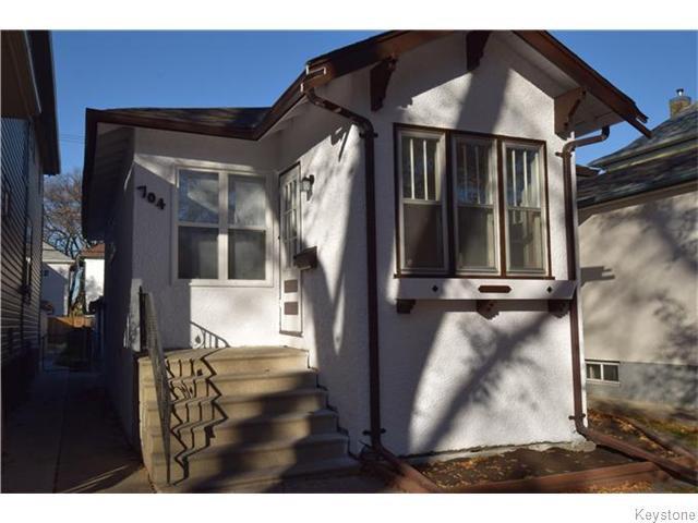 Main Photo: 704 Ashburn Street in WINNIPEG: West End / Wolseley Residential for sale (West Winnipeg)  : MLS®# 1528224