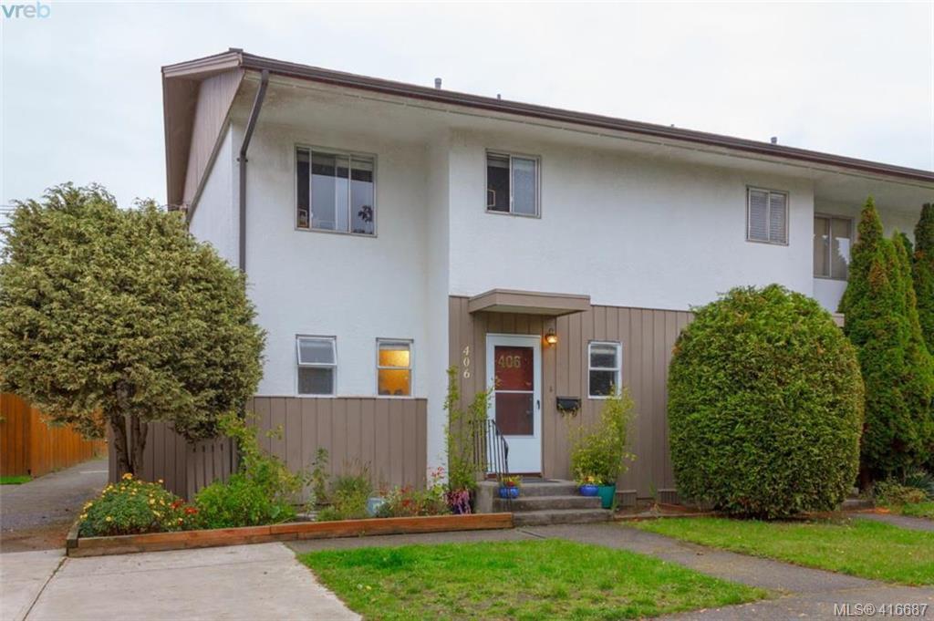 Main Photo: 406 W Burnside Road in VICTORIA: SW Tillicum Row/Townhouse for sale (Saanich West)  : MLS®# 416687