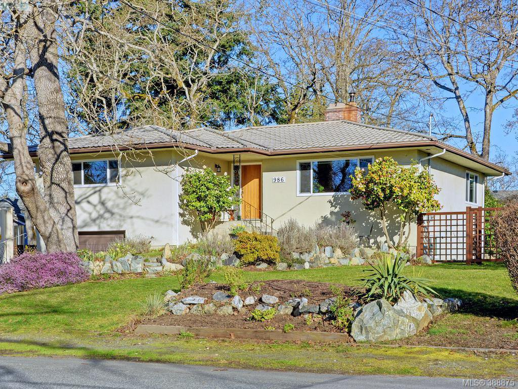 Main Photo: 986 Ridgeway Street in VICTORIA: SE High Quadra Single Family Detached for sale (Saanich East)  : MLS®# 388875
