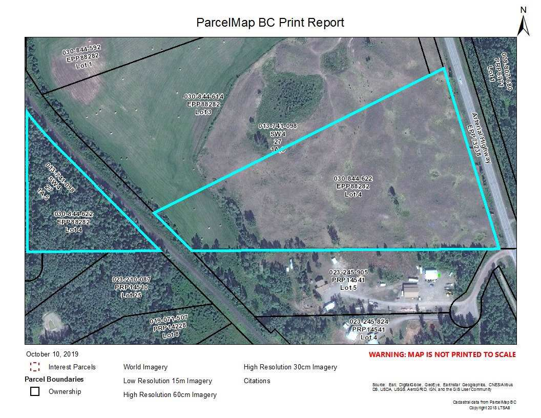 Main Photo: LOT 4 W 16 Highway in Smithers: Smithers - Rural Land for sale (Smithers And Area (Zone 54))  : MLS®# R2481789