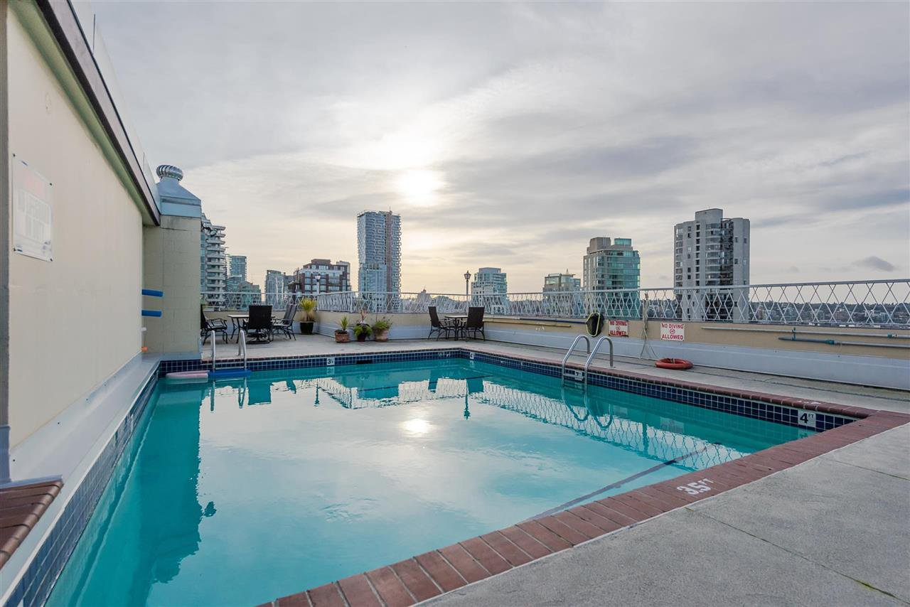 The Roof top pool with large deck has a view to die for.