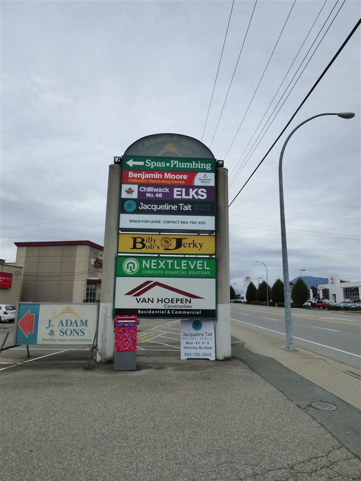 Main Photo: 103A 8645 YOUNG Road in Chilliwack: Chilliwack W Young-Well Commercial for lease : MLS®# C8001364