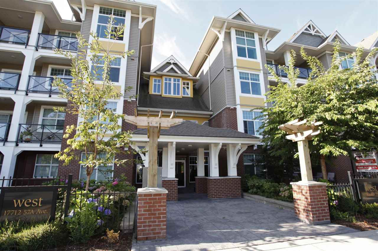 "Main Photo: 303 17712 57A Avenue in Surrey: Cloverdale BC Condo for sale in ""West on the Village Walk"" (Cloverdale)  : MLS®# R2246954"