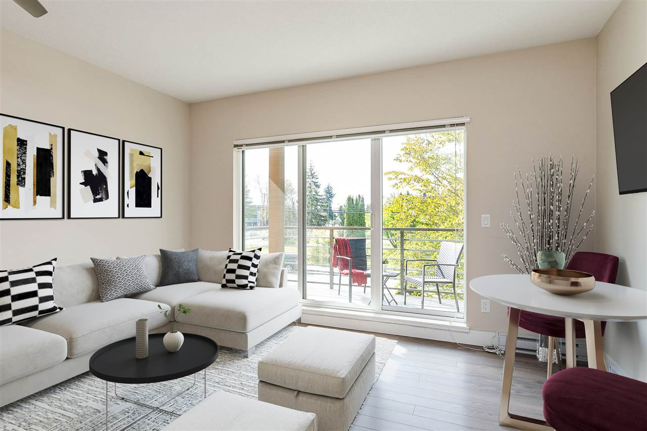 """Main Photo: 203 5811 177B Street in Surrey: Cloverdale BC Condo for sale in """"Latis"""" (Cloverdale)  : MLS®# R2468875"""