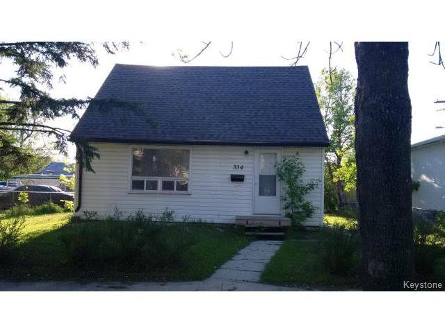 Main Photo: 334 Lock Street in WINNIPEG: Brooklands / Weston Residential for sale (West Winnipeg)  : MLS®# 1514731
