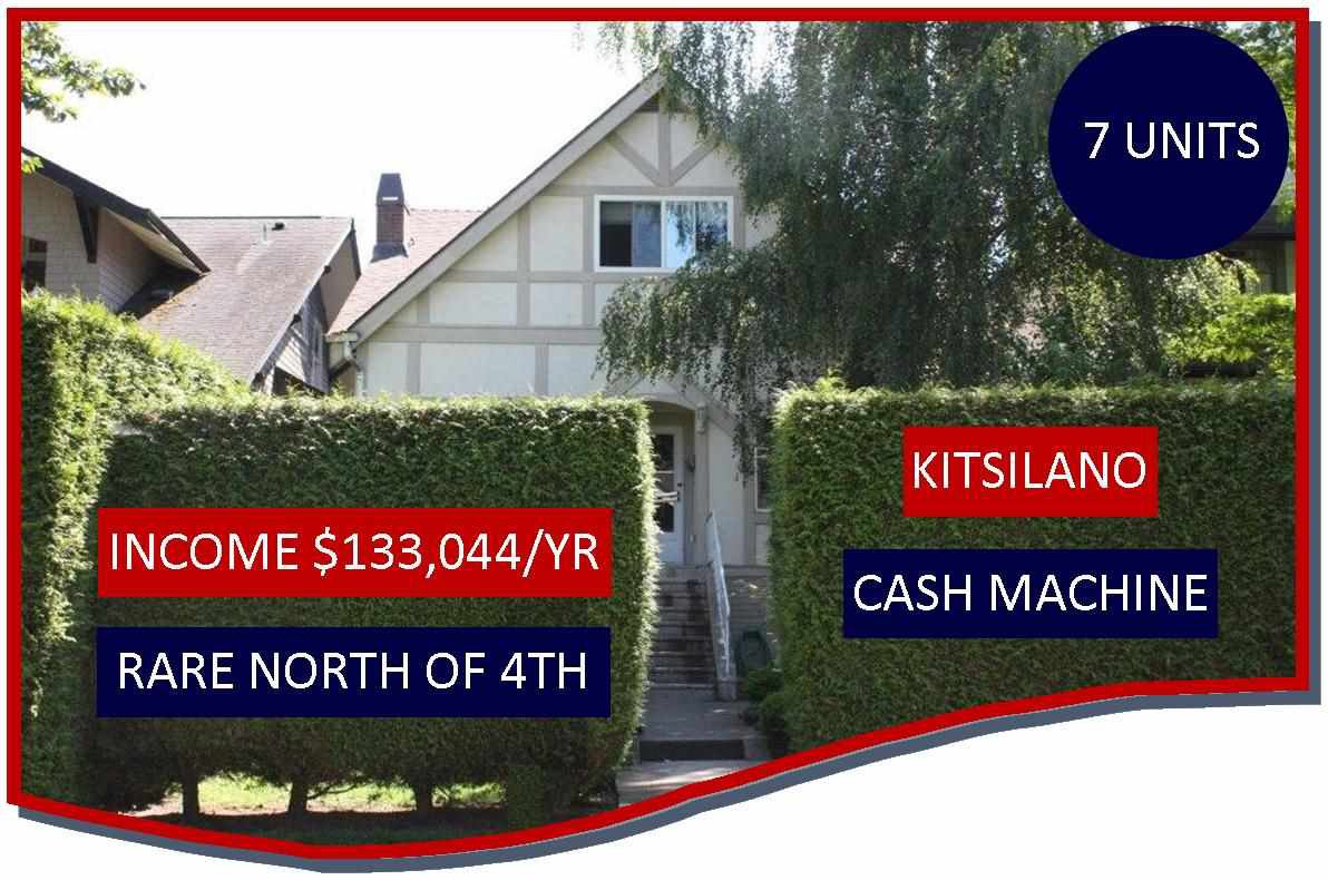 Main Photo: 3536 W 1ST Avenue in Vancouver: Kitsilano House for sale (Vancouver West)  : MLS®# R2203984