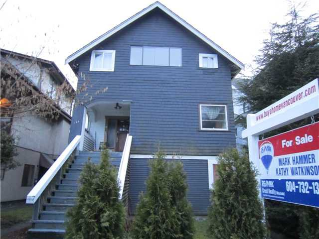 Main Photo: 192 W 12TH Avenue in Vancouver: Mount Pleasant VW House for sale (Vancouver West)  : MLS®# V874436