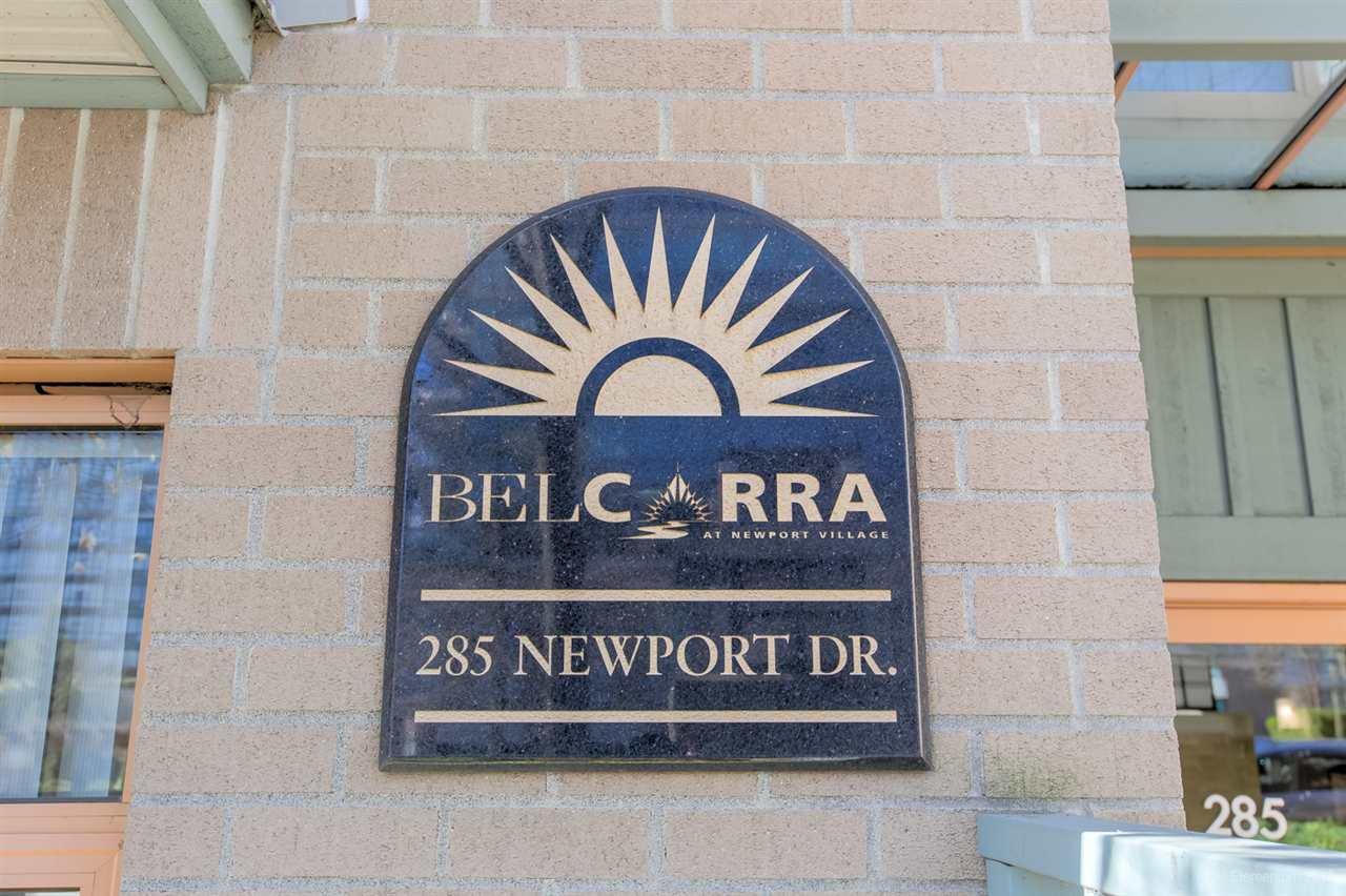 "Main Photo: 108 285 NEWPORT Drive in Port Moody: North Shore Pt Moody Condo for sale in ""THE BELCARRA @ NEWPORT VILLAGE"" : MLS®# R2353865"